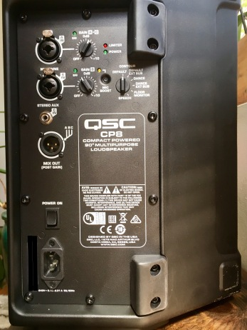 QSC CP8 Speaker Back with Inputs