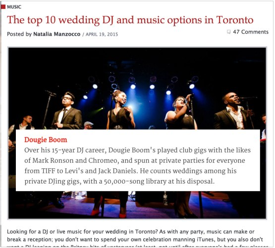 Top-10-Wedding-DJ-Dougie-Boom-Toronto